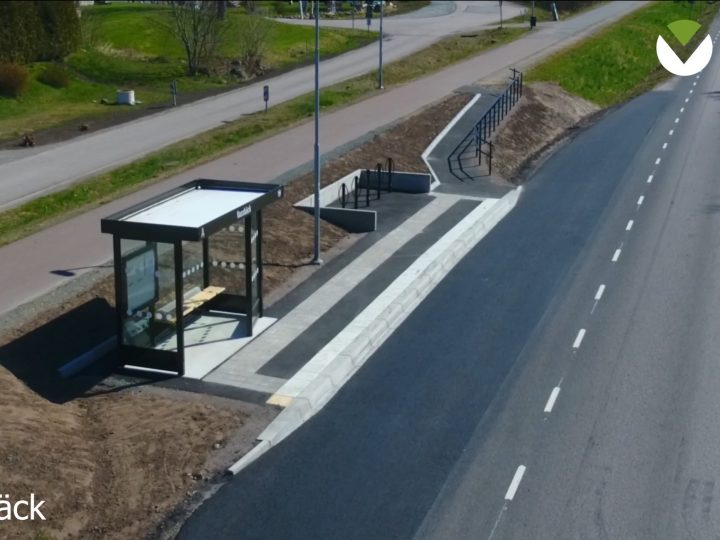 Färdigställda busshållplatser i Norra Halland