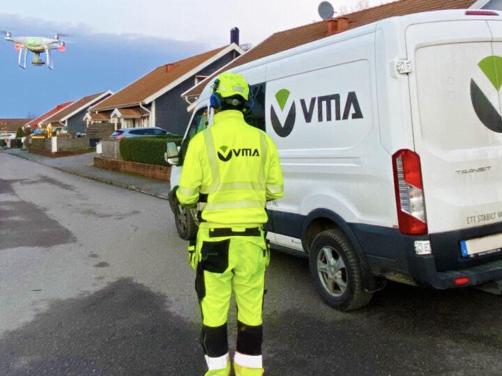 Tack vare ett initiativ från VMA inleds ett samarbete mellan Powel Construction och Skymap