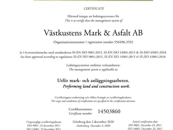 Nya certifikat